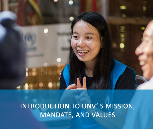Introduction to UNV' s mission, mandate, and values
