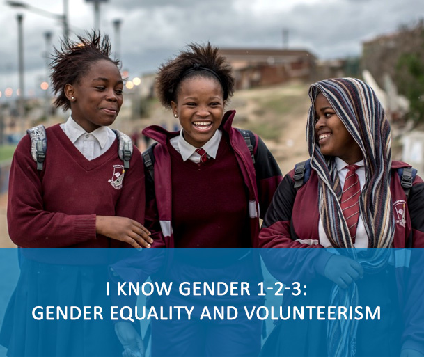 I know gender 1-2-3: gender equality and volunteerism: This course aims to develop and/or strengthen understanding of gender equality and women's empowerment as a first step towards behavioural change and the integration of a gender perspective into everyday work for all UN personnel. It introduces the concepts, international framework, and methods for working toward gender equality and women's empowerment.