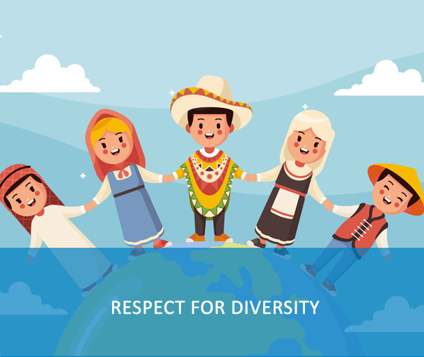 E-Course: Respect for Diversity - One of the UN core values and competencies - the course focuses on the diversity of people and operations, the richness of varied local cultures, and the importance of respect for diversity in enabling success.