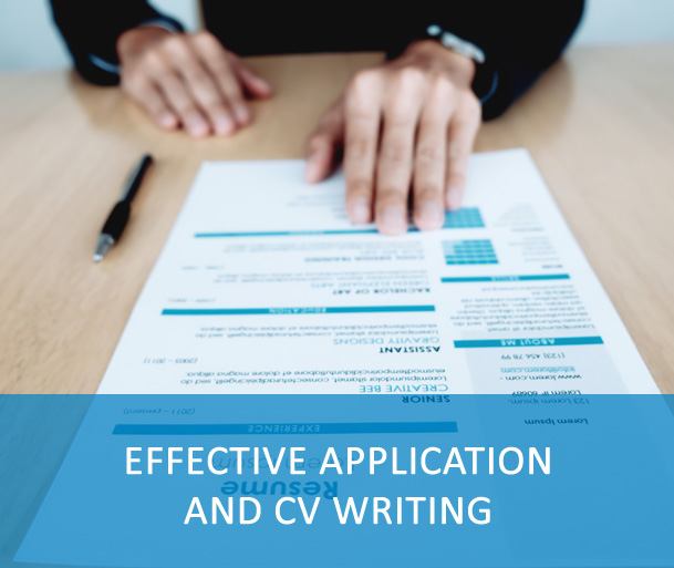 Effective application and CV writing - These courses will help you to analyze a vacancy announcement and know whether you should apply for it. They also focus on the very important aspect of your application: creating your e-recruitment profile/CV, including your duties and achievements to present yourself as a qualified and unique candidate. Lastly, this course will teach you to translate your experience into an effective cover letter.