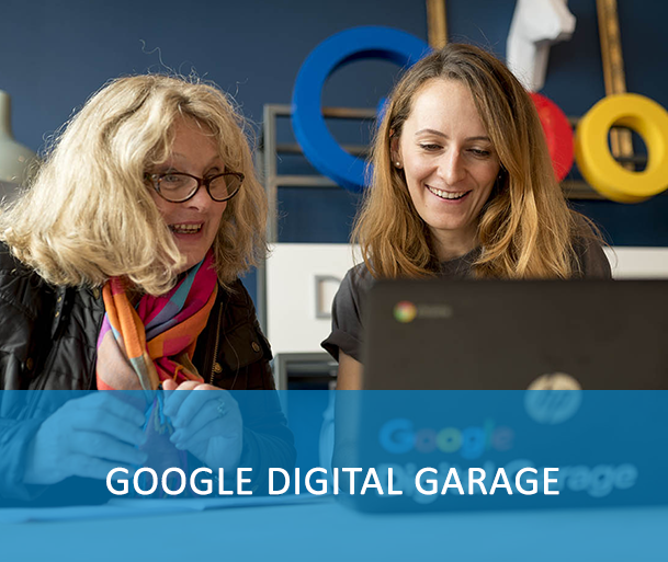 GOOGLE DIGITAL GARAGE - Google Digital Garage provides a number of free courses approved by industry experts, top entrepreneurs and some of the world's leading employers. These facilitate maintain learning up-to-date, real-world, skills that help  reach your goal. Digital skills help us make the most of life, whether it's getting the career you want, or being confident online.